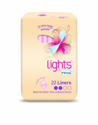 TENA Lights Liner Single Wrapped - 5 x Packs of 22