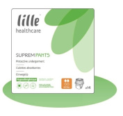 LILLE HEALTHCARE SUPREM Pants Pull Ups - X Large (120-160cm/47-62in) Extra (1430ml) Pack of 14