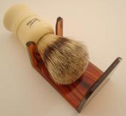 Shaving brush dripstand, tortoiseshell