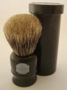 Progress Vulfix 2190 Pure Badger hair travel shaving brush with tube, black