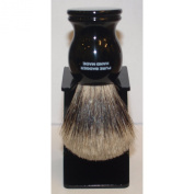 Genuine 100% Pure Badger Shaving Brush With Black Stand T1S