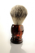 Shaving Brush Faux Tortoise Badger Silvertipp
