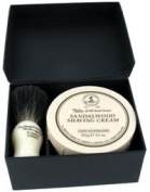Taylors of Old Bond Street Sandalwood Shaving Cream & Pure Badger Hair Brush Gift Set