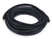 Monoprice 105592 11m Premium Stereo Male to Stereo Female 22AWG Extension Cable - Black