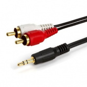 3.5mm Stereo Male to Two RCA Male Audio Cable 3.7m