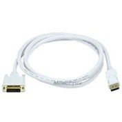 1.8m 28AWG DisplayPort to DVI Cable - White