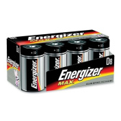 Eveready MAX E95FP-8 General Purpose Battery. ENERGIZER D SIZE FAMILY PACK. D - Alkaline - 1.5V DC