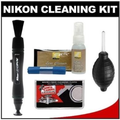 Nikon Cleaning Combo Kit: Nikon 3-Piece Lens Cleaning Kit + Nikon LensPen + Cloth + Blower for D4, D800, D600, D7100, D7000, D5200, D5100, D3200, D3100 Digital SLR Cameras & Lenses