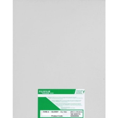 Fuji Crystal Archive Paper Type II 8x10 Glossy (100 Sheets)