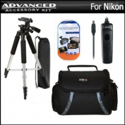Tripod Bundle Kit For Nikon D5200 D3200 D3100 D5100 D7100 Digital SLR Camera Includes 140cm Pro Tripod + Remote Shutter Release + Deluxe Carrying Case + LCD Screen Protectors