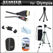 Starter Accessories Kit For The Olympus Stylus SH-50 iHS, SH-50MR Digital Camera Includes Deluxe Carrying Case + 50 Tripod With Case + Micro HDMI Cable + USB 2.0 Card Reader + LCD Screen Protectors + Mini TableTop Tripod + MicroFiber Cleaning Cloth
