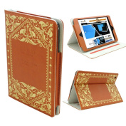 KHOMO ® Brown Book Style Leather Case with Built-in Stand for Apple iPad Mini 20cm