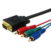 7.6m VGA to 3 RCA component video cable