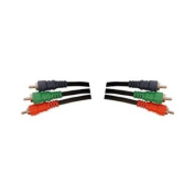 HOSA COMPONENT VIDEO CABLE THREE 75 ohm COAX. CABLE WITH THREE RCA PLUGS, 3M