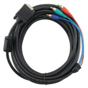 Wired-Up Premium 7.62M VGA to RCA Component Cable M/M - Black [PC]