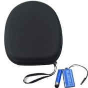 Bluecell EVA Protection Carrying Hard Case/Bag for Audio Technica Headphone + LCD Cleaner Stylus