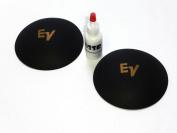 2 EV Electro Voice 10cm Logo Dust Caps with Adhesive - Gold Logo