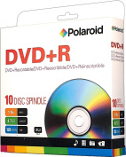 Polaroid PRDVDPR010S DVD+R 4.7GB 120-Minute 16x Recordable DVD Disc, 10-Pack Spindle