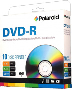 Polaroid PRDVDR0010S DVD-R 4.7GB 120-Minute 16x Recordable DVD Disc, 10-Pack Spindle