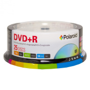 Polaroid PRDVDPR025S DVD+R 4.7GB 120-Minute 16x Recordable DVD Disc, 25-Pack Spindle