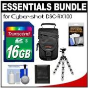 Essentials Bundle for Sony Cyber-Shot DSC-RX100 & RX100 II Digital Camera with 16GB Card + Case + Flex Tripod + Accessory Kit