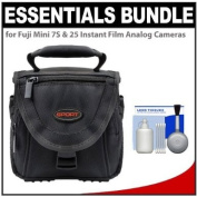 Essentials Bundle for Fuji Mini 7S & 25 Instant Film Analogue Cameras with Case + Cleaning Kit