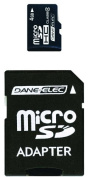 Dane-Elec 4 GB Class 4 microSDHC Flash Memory Card with SD Adapter