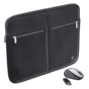 Logitech 39cm Notebook Sleeve and V220 Cordless Mouse