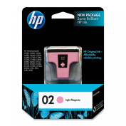 HP C8775WN#140/424 HP 02 Ink Cartridge in Retail Packaging - Light Magenta