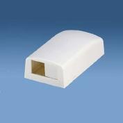 Panduit CBX2WH-AY 2-Port Surface Mounting Box for LD3/LDP3/LD5/LDP5, White
