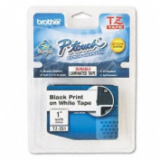 for Brother TZ251 2.5cm P-Touch TZ Laminated Tape, White