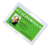 Royal Sovereign Heat Sealed Laminating Pouches 5 Mil Wallet/Military ID Size Punched No Clips Clear Gloss (100 Pack)