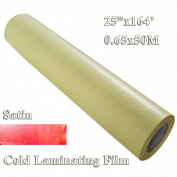 60cm x164' (0.63x50m) 2mil Satin Matt Vinyl Cold Laminating Film Laminator