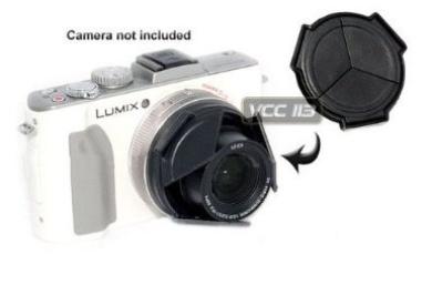 "JJC ALC-LX7B Professional Auto Lens Cap For Panasonic LX6 & LX7 Black Opens and closes Automatically"""