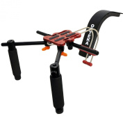 Opteka CXS-2 Dual-Grip Video Shoulder Stabiliser Support System with 15mm Accessory Rod