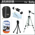 Starter Accessories Kit For The Sony Cyber-shot DSC-H90 Digital Camera Includes Deluxe Carrying Case + 50 Tripod With Case + USB 2.0 Card Reader + LCD Screen Protectors + Mini TableTop Tripod + MicroFiber Cleaning Cloth