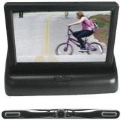 Pyle PLCM4500 11cm Pop-Up Stealth Monitor with Licence Plate Camera and Parking Assist System