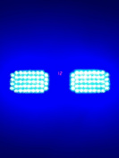 Aurnoc New Commercial Truck Boat Car 86-LED Strobe Lights Car Flash Emergency Waring Light 12 Flash Modes Available in Blue / Amber / White / Red / Red & Blue
