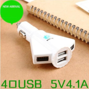 New 4 Port USB Power Supply Multi Adapter CAR Charger 5V 4A for ipad iphone ipod