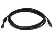 Monoprice 3m 34AWG Standard HDMI Cable With Ethernet w/Ferrite Core - HDMI Micro Connector male to HDMI Connector male - Black