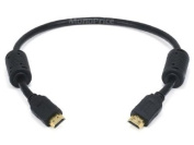 Monoprice 0.5m 28AWG High Speed HDMI & reg Cable With Ethernet w/ Ferrite Cores - Black