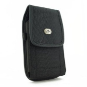 Heavy Duty Extra Large Vertical Smart Phone Case / Pouch / Holster with Belt Loop, Clip, . 5.75 x 3 x 0.75