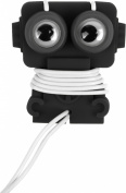 Kikkerland US18-BK Robo Buddy Ear Buds and Cord Wrap - Wired Headsets - Retail Packaging - Black