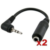 Smartphone 2.5mm to 3.5mm Stereo Headphone Adapter