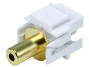 Monoprice Keystone Jack - 3.5mm Stereo, Flush Type