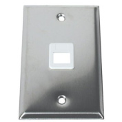 C2G / Cables to Go 37093 1-Port Single Gang Multimedia Keystone Wall Plate