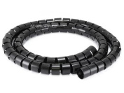 Monoprice 107028 Spiral Wrapping Bands, 30mm x 1.5m, Black