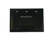 Monoprice 104002 Recessed Low Voltage Cable Wall Plate, 3-Gang, Black