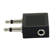 EarHugger Airline Adaptor EHA-18 - Audio adapter - mini-phone mono 3.5 mm (M) - mini-phone stereo 3.5 mm