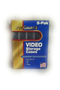 5-Pack Clear Plastic VHS Cases